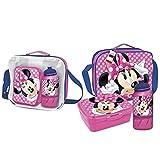 Cerdá - Portameriendas Termico con Botella Infantil y Tupper para Niños de Minnie Mouse - Licencia...