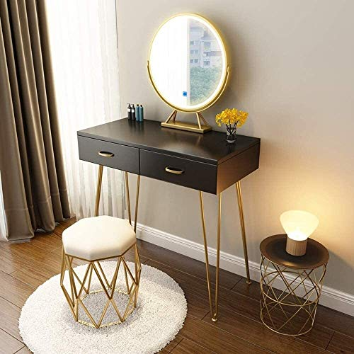 HLZY Escritorio de tocador para dormitorio, decoración del hogar, tocador, dormitorio nórdico, moderno, minimalista, red roja, mesa de maquillaje para la familia (tamaño : estilo 1)