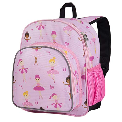 Wildkin 12 Inches Backpack for Toddlers, Boys and Girls, Ideal for Daycare, Preschool and Kindergarten, Perfect Size for School and Travel, Mom's Choice Award Winner, Olive Kids (Ballerina)