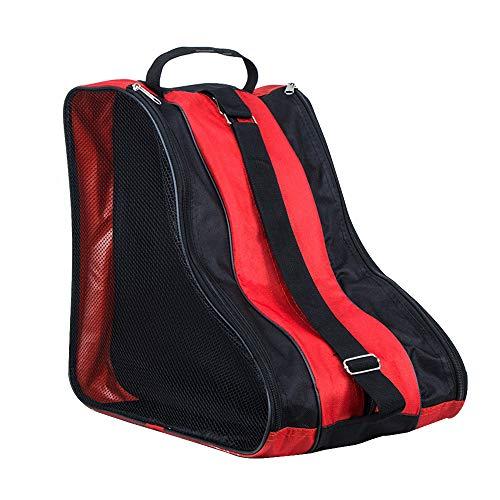DAZISEN Schlittschuhe Tasche Unisex - Rollschuhe Tasche Ice Skate Tasche Bag Wasserabweisend Kinder und Erwachsene Rot