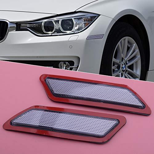 1 Paar Frontseite Stoßstange Marker Reflektor Lampe Licht weiße Linse 63147274521 63147274522 Fit für BMW 3er F30 2013 2014 2015