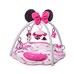 Activities and prop pillow make tummy time easy Toys detach for playtime anytime (and everywhere!) Plays fun sounds and melodies Play mat can be safely tossed in the wash