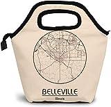 Belleville Illinois - Bolsa de almuerzo con aislamiento para América del Norte de Belleville Illinois, bolsa de almuerzo para mujer, niña, hombre y niño