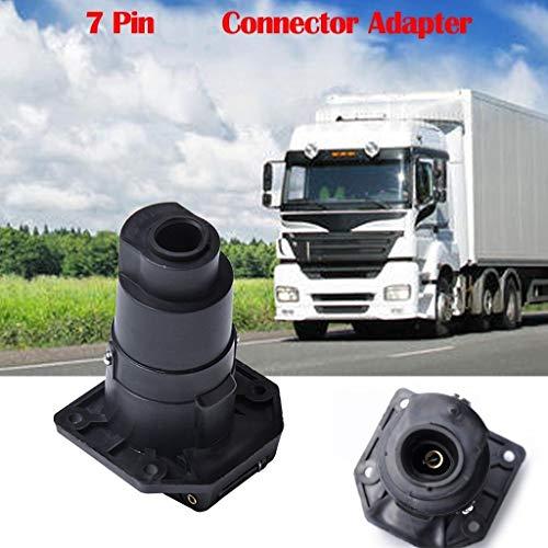 Adaptador de remolque impermeable 7-PIN remolque 7 polos for el adaptador de conector plano 12V Nueva barra de remolque de camión Accesorios Accesorios Caravana Adecuado para remolques / vehículos rec