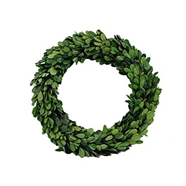 Preserved Garden Boxwood Round Wreath 10  By COCOMIA