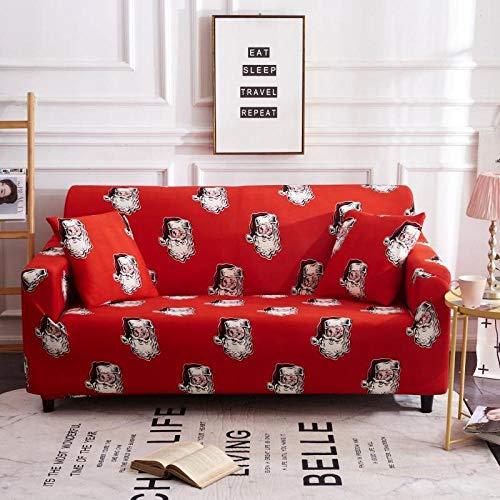 Funda de sofá de Alta Elasticidad,Funda de sofá con patrón impreso, funda de sofá elástica antideslizante, cojín de sofá universal para todas las estaciones, funda protectora de muebles de sala de es