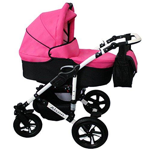 Cochecito bebe 3 piezas X-Trall BBtwin carro trio (rosa + negro)
