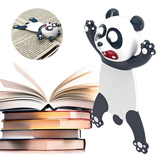 Easy-topbuy 3D Stereo Lesezeichen Cartoon Panda Shiba Inu Lesezeichen Neuheit Tier Lesezeichen Süßes PVC Lesezeichen Zum Lesen Geburtstagsgeschenk Für Schüler Jugendliche 4,5x7,5cm