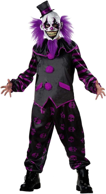 HorrorShop Evil Killer Zirkus Clown Kostüm mit teuflischer Maske für Halloween One Size