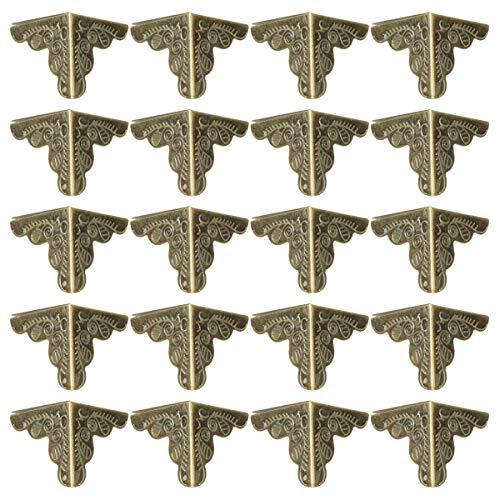 OUNONA Eckenschutz Metall?Vintage Schutzecken Dekorative Schutz Packung von 30