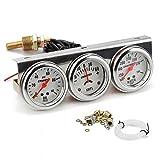 Tachymetre Voiture,3 en 1 combiné compteur/jauge de pression d'huile de voiture/température de l'eau/ampèremètre/2 pouces/52mm