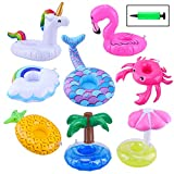 Blovec Inflatable Drink Floats, 8 Pack Inflatable Drink Holders...