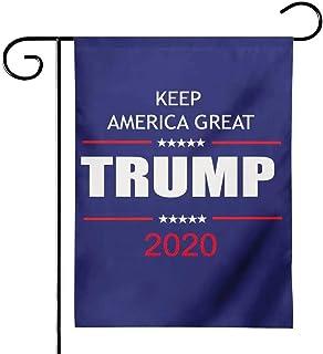 Dellukee American President Donald Trump 2020 Make Keep US America Great Garden Flag, US Election Patriotic Outdoor Decora...