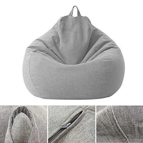 Bawełniana lniana torba do siedzenia pokrowiec, duża sofa pokrowiec ergonomiczna leniwa leżanka odporna na wilgoć pokrowiec do domu wewnątrz salonu, bez wypełnienia, 60 x 80 cm