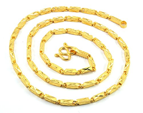 Necklace Women Girl Jewelry 22K 23K 24K Thai Baht Yellow Gold Plated 11 Grams 18 inch 3 MM
