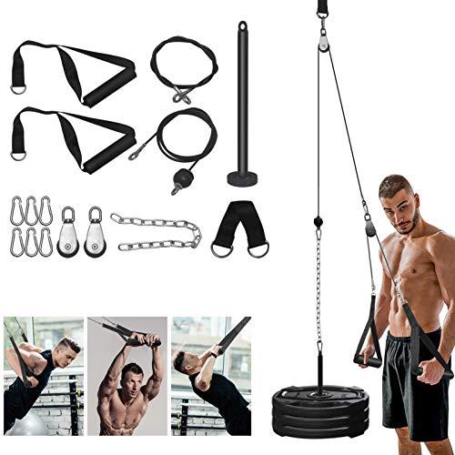 Poleas Gimnasio para Casa con Cuerda Pesada, Máquina del Sistema Polea de Tríceps Gimnasio Casa de Bricolaje para Curl de Bíceps, Extensiones Tríceps, Entrenamiento Fitness Gimnasio
