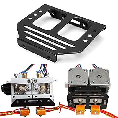 Alamor Metal MK8 Extruder Holder Chassis For Dual Head 3D Prusa I3 Printer
