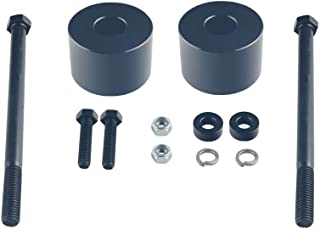 DEWHEL Black Billet Aluminum Differential Drop Spacers For 1995-2007 Toyota Tundra Tacoma Sequoia 4WD Lifted Trucks Front Diff Drop Kit