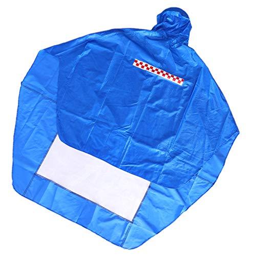 Générique Sharplace Imperméable Moto Unisexe Fait de Tissu de Nylon épais, Haute Respirabilité et Confort - Bleu royal, 1,5x1,4x0,03m