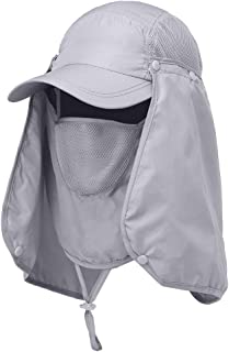 Andoer Chapéu com viseira de caminhada esportiva ao ar livre Proteção UV Proteção do rosto, pescoço, pesca Boné de proteçã...