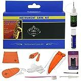 Rochix - Kit de limpieza para saxofón, kit de mantenimiento, naranja, aceite de llave, grasa de corcho, hisopo, paño de limpieza, reposa pulgar, cepillo para boquilla y más