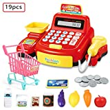 Simulated Supermarket Checkout Counter Role Cashier Cash Register Toy Kids Pretend Play Toys