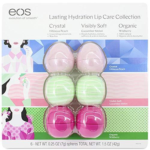 Cartela Com 6 Eos Lip Balm - Protetor Labial 100% Natural