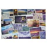 30 tarjetas de felicitación escénicas del paisaje del viaje de las postales del mundo retro de las PC, Provence Francia