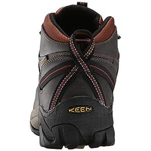 KEEN Men's Targhee II Mid Waterproof Hiking Boot, Raven/Tortoise Shell, 9 M US