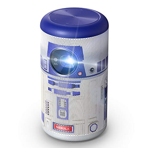 Anker Nebula Capsule II Star Wars R2-D2 Limited Edition Smart Mini Projector, 200 ANSI Lumen 720p DLP HD Portable Projector, Android TV 9.0, 8W Speaker, 100″ Image, 5,000+ Apps, Movie Projector(TM)