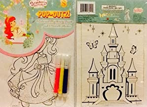 Pop-Outs Take N Play! Small Set~ Strawberry Shortcake & Castle ~ Coloring Activity Boards ~ Markers ~ Stands