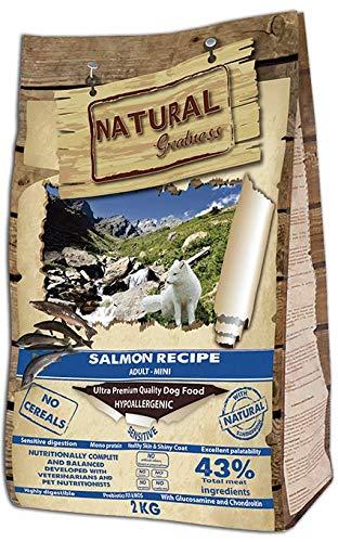 Natural Greatness Salmon Recipe Mini Alimento Seco Completo para Perros - 2000 gr