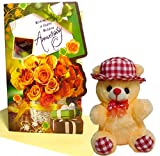 Non-Toxic And Soft Fabric Sales Package:: 1 Greeting Card, 1 Soft Teddy Very Attractive To Make You Have A Good Feeling All The Time Huggable And Loveable