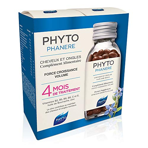 PHYTOPHANERE by PHYTO Dietary Supplement for Beautiful Hair & Nails 2 Capsules (240 Capsules for The Price of 120) x 120