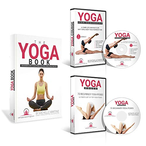 Learn Yoga DVD for Beginners Course Includes 1 Hour Vinyasa Flow Yoga Workout DVD & A Beginner Yoga Poses DVD. Great for Weight Loss and Yoga Exercises. Learn Faster. Includes Yoga Books