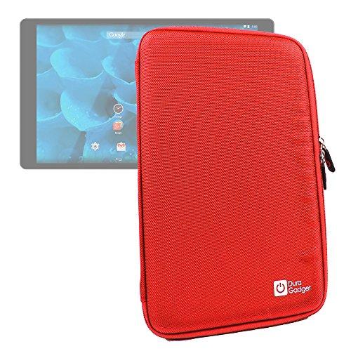 """DURAGADGET Housse étui Rouge de Transport pour Tablette QILIVE Q3778 et QILIVE Q4 écran 10.1"""""""