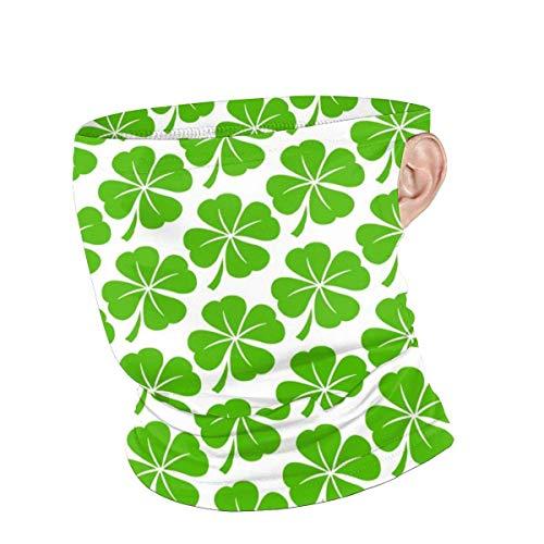 Lawenp Scaldacollo Unisex Lucky Irish Clover Riutilizzabile Face neck Summer Bandane traspiranti