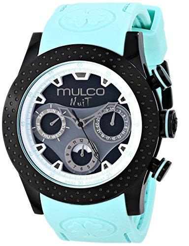 MULCO Reloj analógico unisex de cuarzo suizo azul MW5-1962-443