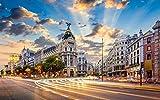 OKOUNOKO Puzzles 1500 Piezas Adultos, Madrid, Puesta De Sol,...