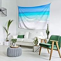 自然風景 タペストリー 青い空と海 ビーチ おしゃれな壁掛け インテリア 多機能壁掛け ファブリック装飾用品 おしゃれ モダンなアート 模様替え 部屋 窓カーテン 個性ギフト 新居祝い