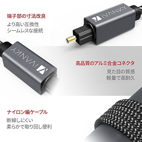iVANKY光デジタルケーブル(Grey1.0m)