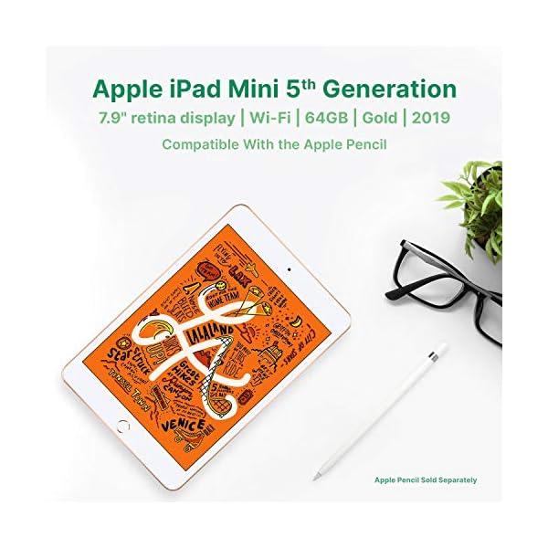 "Apple iPad Mini   7.9""   5th GEN   WI-FI   64GB   Gold   2019   (Renewed) 4"
