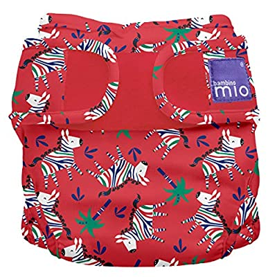 Bambino Mio, Miosoft Cloth Diaper Cover, Zebra Dazzle, Size 2 (21lbs+) (MS2ZDZ)