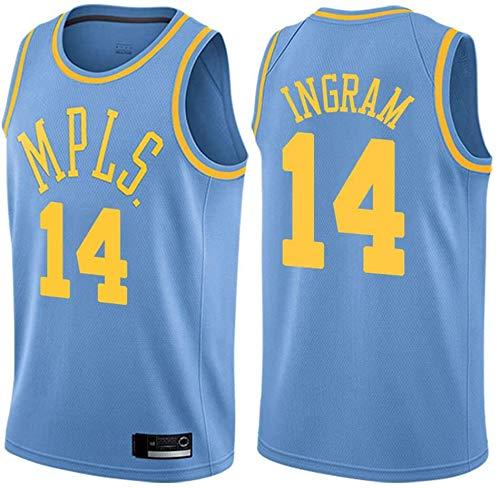 WSWZ Camiseta De Baloncesto De La NBA para Hombre - Los Angeles Lakers 14# Brandon Ingram Camisetas De La NBA - Unisex Cómodo Camiseta Sin Mangas Deportiva De Baloncesto,XL(180~185CM/85~95KG)