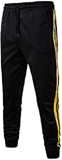 CuteRose Men's Oversized Relaxed-Fit Sport Elastic Waist Trousers Sweatpant