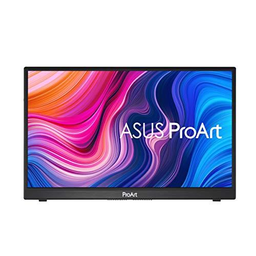 ASUS ProArt Display PA148CTV Portable Professional 35,56cm (14 Zoll) Monitor (Full-HD, IPS, 60Hz, 100% sRGB, 100% Rec.709, Calman-verifiziert, 10-Punkt-Touchfunktion, USB-C, Micro HDMI, 5ms)