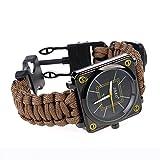 Ultragood extérieur de survie multifonction montres, kit de survie Bracelet, corde,...