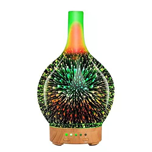 Humidificateur d'huiles d'aromathérapie à ultrasons Galaxy 100 ML 3D avec lumières LED étonnantes, Fonction d'arrêt du téléphone Portable et Grand réservoir d'eau