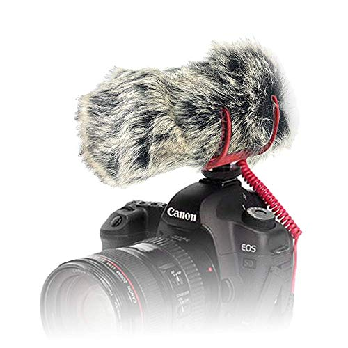 Yisau Microphone Cover Dead Cat Mic Cover for Rode Videomic Go Wind Muff Artificial Fur Mic Windscreen Deadcat Rode Go Windscreen