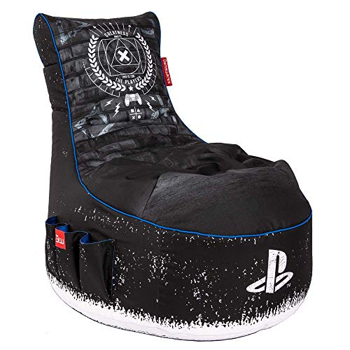 Gamewarez Playstation Bean Bag: X-Ray Gaming Sitzsack, Maße: 900(H) x 650(B) x 950(L) mm